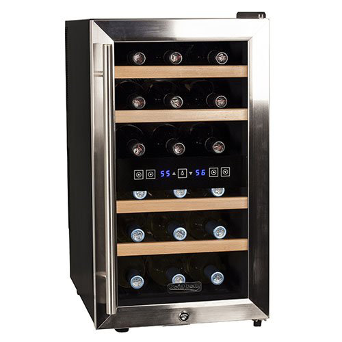 2e43f232550 Koldfront 18 Bottle Free Standing Dual Zone Wine Cooler