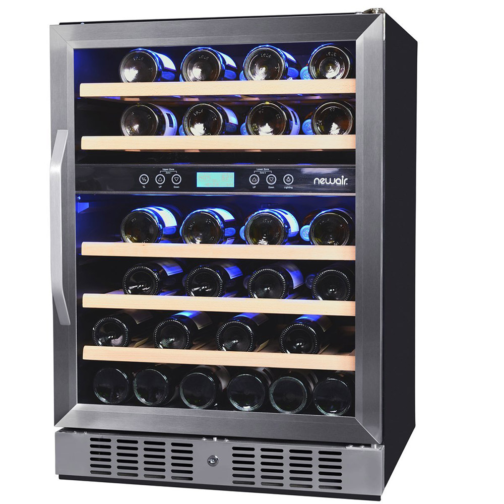 Wine Refrigerator Reviews >> Newair Awr 460db Dual Zone 46 Bottle Wine Cooler