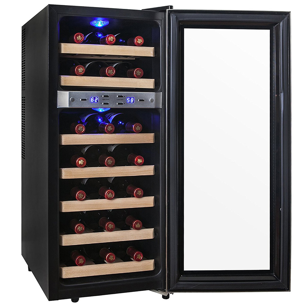 Akdy 21 Bottle Dual Zone Thermoelectric Freestanding Wine Cooler Review